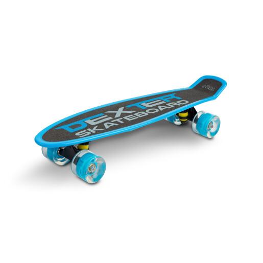 Skateboard cu casca, cotiere si genunchiere Toyz DEXTER Albastru
