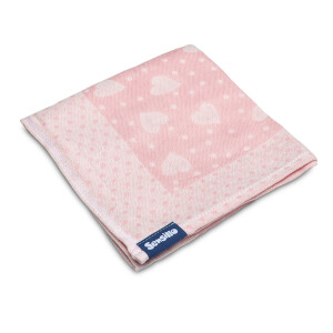 Scutec bumbac/bambus Sensillo 75x65 cm Pink Hearts