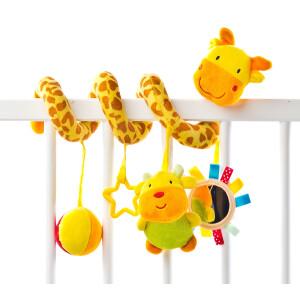 Spirala cu jucarii pentru patut/carucior Sensillo Giraffe