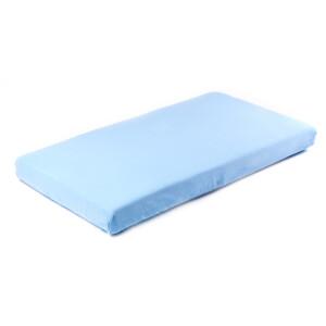 Cearsaf de bumbac jersey cu elastic Sensillo 120x60 cm Albastru