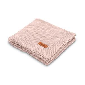 Paturica de bumbac tricotata Sensillo 100x80 cm Roz