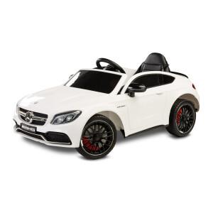 Masinuta electrica cu telecomanda Mercedes AMG C63 S Alba