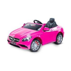 Masinuta electrica cu telecomanda Toyz MERCEDES-BENZ S63 AMG 12V Pink Roz
