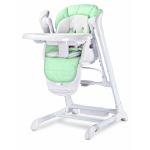 Scaun de masa cu leagan electric Caretero INDIGO 2 in 1 Mint