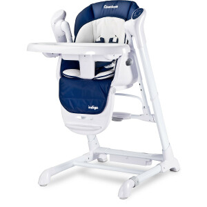Scaun de masa cu leagan electric Caretero INDIGO 2 in 1 Navy