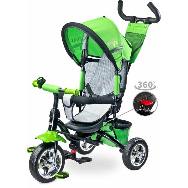 Tricicleta cu maner si scaun reversibil Toyz TIMMY Green
